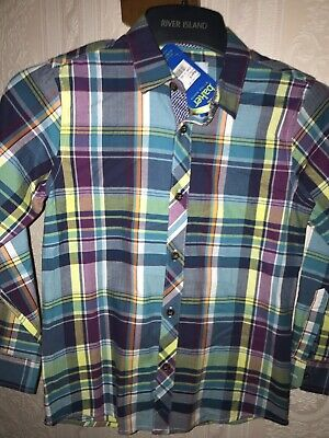 Boys Checked Ted Baker Shirt. Age 9 YEARS BNWT'S