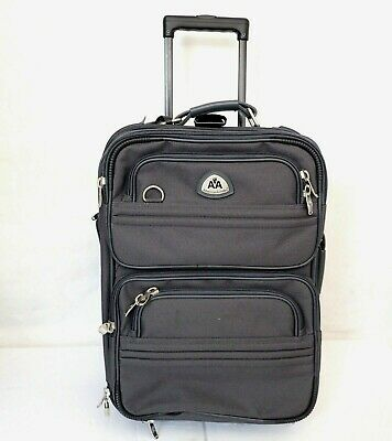 AMERICAN AIRLINES Rolling Carry on Compact Suitcase Elegance Gray Clean PILOT