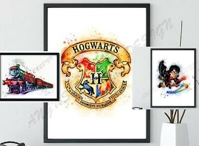HARRY POTTER x 3 A4 PRINTS, Home Decor, Wall Art, Gift,HOME