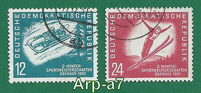 DDR-East Germany series stamps Used 1951 The Championship of Winter Sports (D-6)