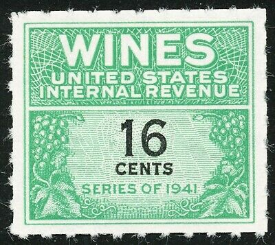 Dr Jim Stamps Us Scott Re128 16C Wines Unused Nh No Reserve Free Shipping
