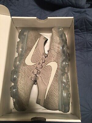 """NIKE Air VaporMax """"PALE GREY"""" FlyKnit Running Shoes Brand New Men's Size 12.5"""