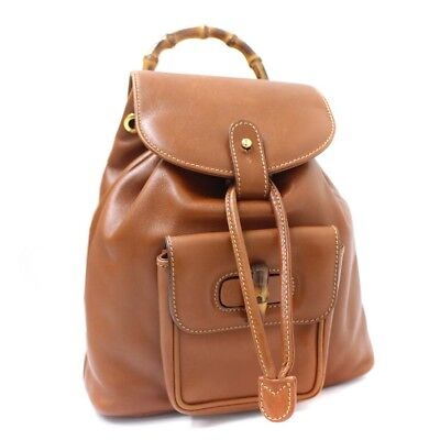 c460bfd371cb GUCCI 003 58 0016 Rucksack Backpack Bamboo Women -  393.60