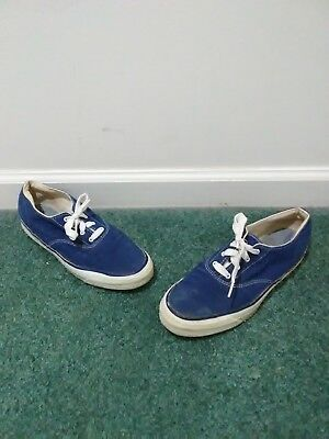 53b5ceae29 Vintage 60s 70s Made In USA Sperry Top-Sider Womens 10 Blue Converse Vans  Rare