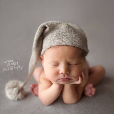 Newborn Teddy Bear Mohair Baby Hat Beanie Baby Photo Prop Photography Props