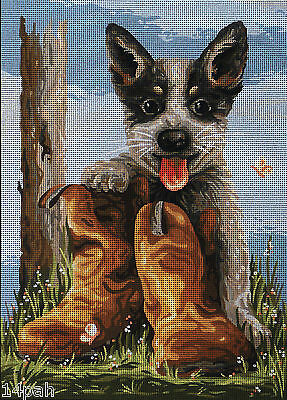 Bluey's Boots country threads TFJ-1024 36cm x 50cm Tapestry Unworked New