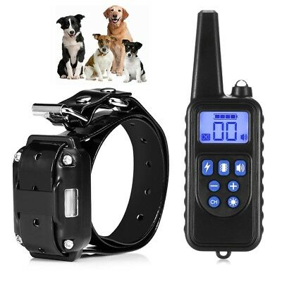 Dog Shock Collar Rechargeable Waterproof 800m Remote Training Electric Pets