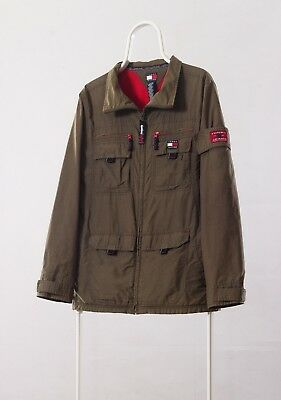 391fbe2472f Vintage Mens TOMMY HILFIGER Military Army Parka Field Multipocket Coat  Jacket