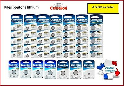 Piles boutons lithium Camelion CR2032/2025/2016/1616/1620/1220/1225/2430/2450