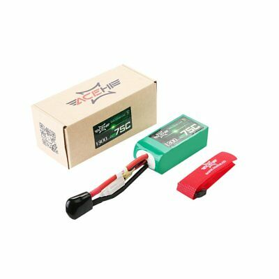 ACEHE 11.1V 1300mAh 75C 3S1P 14.43WH Capacity High Rated Lipo RC Batterynv