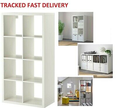 separation shoes 9696a 4ed55 IKEA KALLAX WHITE, 8 Shelving Unit Display 8 cube, Storage, Bookcase, shelf  rack