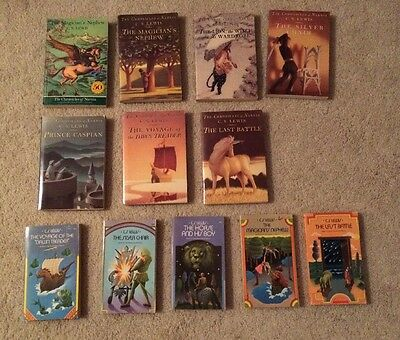 Lot 12 Books The Chronicles of Narnia C.S. Lewis Vintage Collier Books & Harper