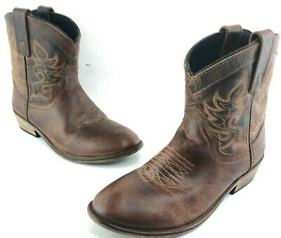 4ad76f00293 DINGO WOMEN'S SHORT Cowboy Boots size 6 M Willie DI865 Brown Leather
