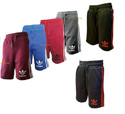 New Mens Adidas Originals 3 Stripe Essential Mens Shorts 5 Colours Sports Shorts