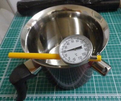 Wax Melting Pot with Safety Water Jacket, 1.5 Litre & Candle Thermometer