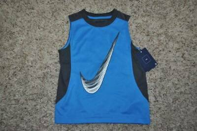 0279c4ef7c1cd NWT-Boys Nike Blue Swoosh Athletic Sleeveless Muscle Tank Top Shirt-size 4