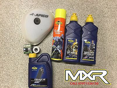 Honda Crf 450 X Service Kit Oil 10W-40 Oil Nano Tech 10W-40 + Filter + Coolant