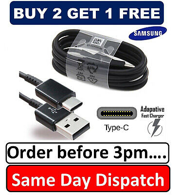 1M Original Samsung S8 S9 TYPE C Cable USB-C Fast Charger Genuine Data Sync Lead