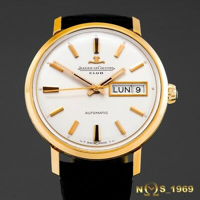 Jaeger  Lecoultre  Club  Day Date  18K Gold   Automatic 35Mm  Papers Jlc