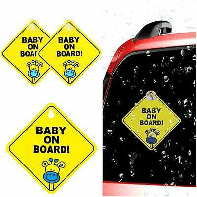 Baby On Board Kids Decal Girl Boy Child Funny Novelty Suction Cup Giraffe Car
