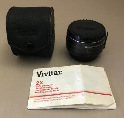 Minolta Mount Vivitar MC Tele Converter 2X -5 with Case