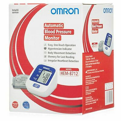 Omron Automatic Blood Pressure Monitor HEM-8712 For Upper Arm 100 % original>>