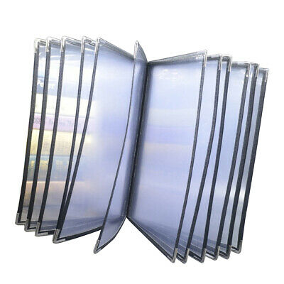 12 Pages 24 Views Transparent Restaurant Menu Covers, 9.8x12.4-inch