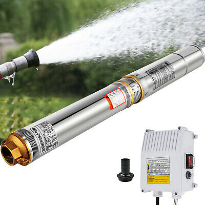 """VEVOR 4""""4SDM4-10 Borehole Deep Well Submersible Water Pump LONG LIVE + CABLE"""