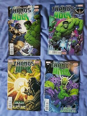 Marvel Thanos vs Hulk by Jim Starlin 1 2 3 4 Complete First Issue Marvel Comics