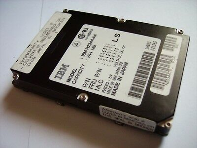IBM H2344-A4 IDE 344MB 17mm 4200rpm 2.5in Hard Drive  VINTAGE HDD TESTED ! RARE