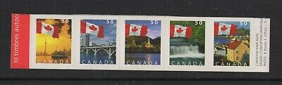 CANADA NO 2076 to 2080 STRIP OF 5, FLAGS OVER CANADA, FROM BOOKLET,LH, MINT NH