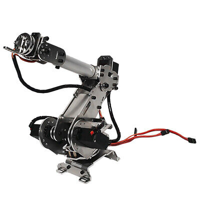 Prettyia 6-Dof Alloy Mechanical Arm Manipulator Kits for Arduino DIY 6 Axis