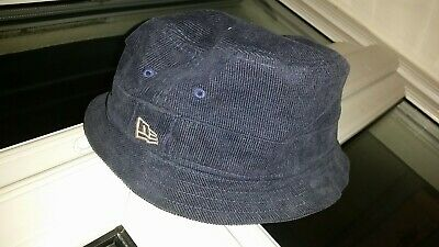 Authentic New Era Bucket Hat XL blue navy corduroy cotton extra large d4cb512dde68