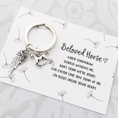 In Memory of beloved horse - sympathy, memorial, bereavement keepsake gift