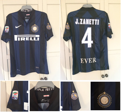 quality design 13d9b 229e6 INTER MILAN SHIRT 2014 ZANETTI Football Soccer Jersey ...