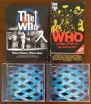 The Who Lot:Who's Better Who's Best:DVD,2006-Rocks America Tour 1982:VHS-CD,1984