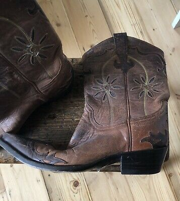 fb76a83934d VINTAGE LADIES BROWN Leather Cowboy Boots - R Soles by Judy Rothchild, US  8/UK 6