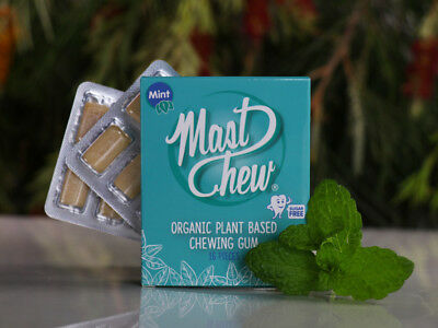 Mast Chew Sugar Free 100% Natural Organic Plant-Based Mastic Chewing Gum Blister