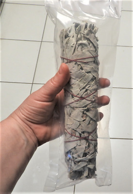 Large 76g (22cm) Smudge WHITE SAGE cleansing stick - spiritual House cleansing