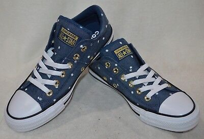 29322ec8d70 Converse Women s All Star Madison OX Navy Gold White Sneakers - Size 6 -