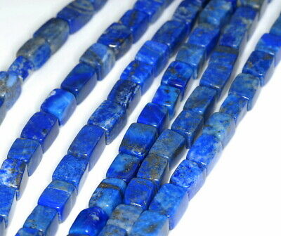13X10-11X8Mm Lapis Lazuli Gemstone Cube Loose Beads 7""