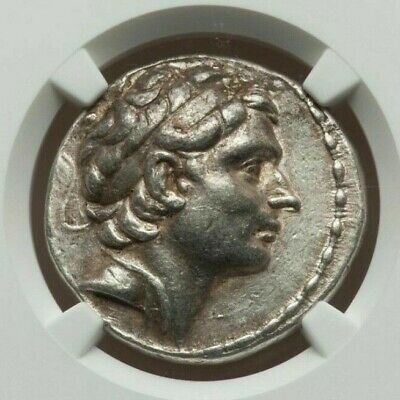Seleukid Kingdom Antiochos III Antiochus The Great AR Tetradrachm NGC XF 5/5 4/5