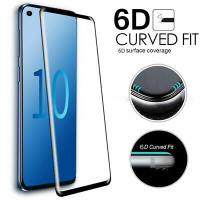For Samsung Galaxy S10 Plus Full Cover 6D Curved Tempered Glass Screen Protector