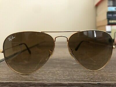 9535022a733 Ray-Ban Aviator RB3025 001 51 58mm Brown Gradient Lens Gold Sunglasses