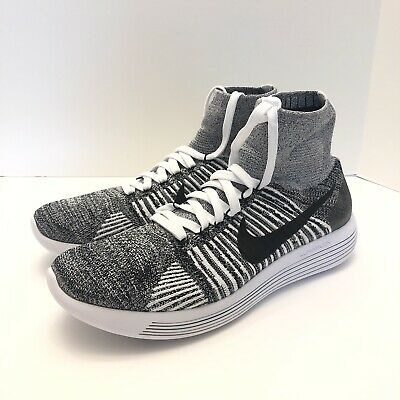 low priced 8b195 21809 NIKE LUNAREPIC FLYKNIT Running Shoes Mens Size 11 White Oreo 818676-001 New