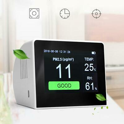 Digital Gas Monitor Analyzer Laser PM2.5/TVOC/HCHO/CO2 Detector Hygrometer Air