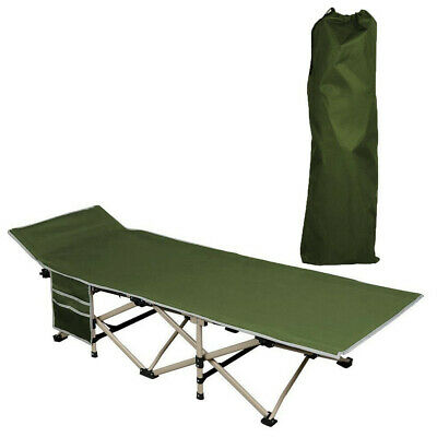 Army Green Folding Camping Bed Outdoor Portable Military Cot Sleep Hiking Travel