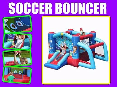 HAPPY HOP 9187 Inflatable Soccer Jumping Castle