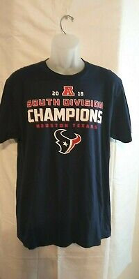 99d5728be Houston Texans NFL 2018 AFC South Division Champions T-Shirt Playoffs  Football