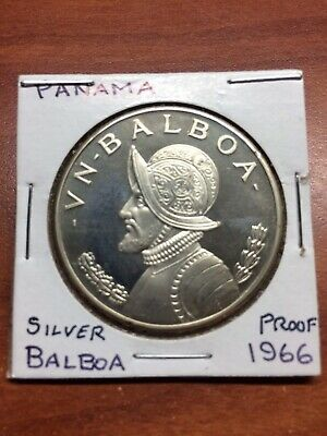 1970 Panama 5 Balboas Silver Proof 1oz Central American & Caribbean Games Coins